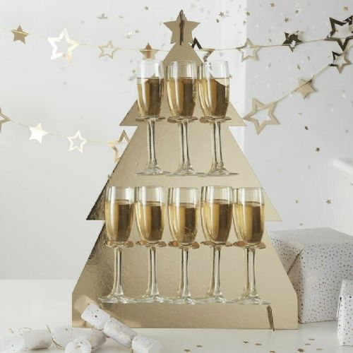 Christmas Tree Prosecco Wall